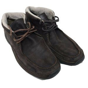Timberland Men's 11 Boots Leather Chukka Moc-Toe